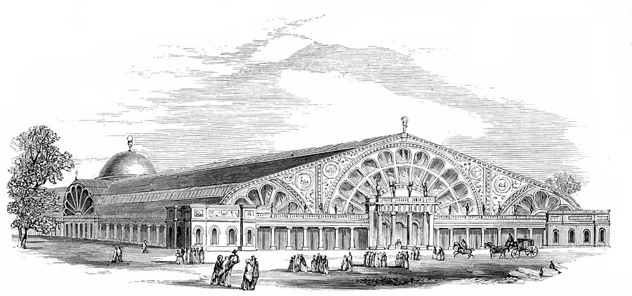 Messrs. R and T. Turner's Design. View of Exterior from one end.