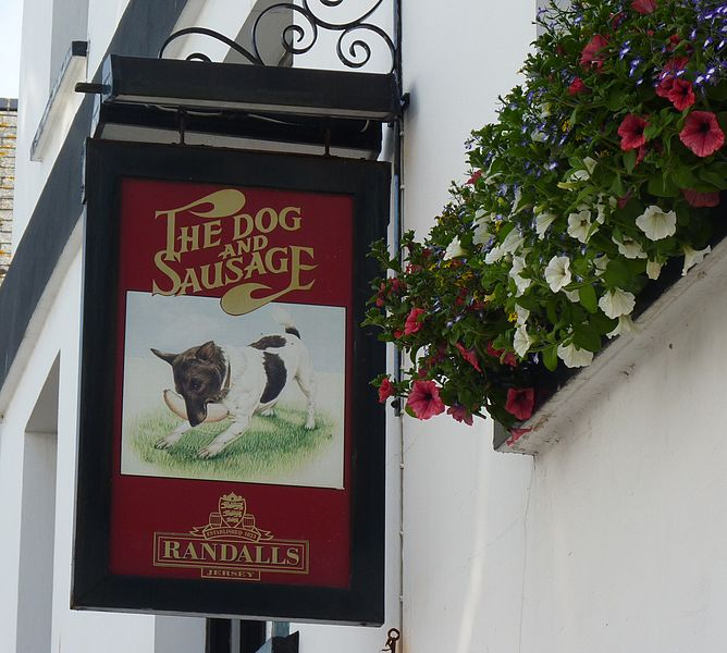 File:The Dog and Sausage pub sign.jpg