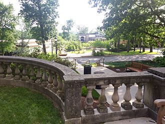 Hun School of Princeton - The campus from the porch of Edgerstoune