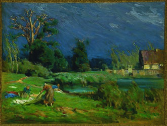Amistad Research Center - The Laundress, by Henry Ossawa Tanner
