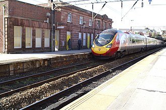 Edge Hill railway station - Image: The London train passing through Edge Hill Station geograph.org.uk 1527481