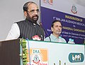 The Minister of State for Chemicals & Fertilizers, Shri Hansraj Gangaram Ahir addressing at the inauguration of the First Jan Aushadhi Store, in New Delhi on June 05, 2015.jpg