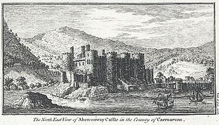 The North East View of Aberconway Castle in the County of Caernar