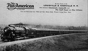 Pan-American (train) - Postcard photo of the heavyweight train.