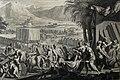 The Phillip Medhurst Picture Torah 498. Moses finishes building the tabernacle. Exodus cap 40 v 33. Mortier.jpg