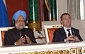 The Prime Minister, Dr. Manmohan Singh and the President of the Russian Federation, Mr. Dmitry Anatolyevich Medvedev at the Joint Press Conference, in Moscow, Russia on December 07, 2009 (1).jpg