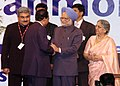 The Prime Minister, Dr. Manmohan Singh attends a reception hosted by the Ambassador of India to Oman, Shri Anil Wadhwa for the Indian Community, in Muscat, Oman on November 09, 2008 (1).jpg