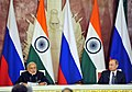 The Prime Minister, Shri Narendra Modi and the President of Russian Federation, Mr. Vladimir Putin at the joint media briefing, in Moscow, Russia on December 24, 2015 (2).jpg