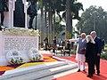 The Prime Minister, Shri Narendra Modi and the Prime Minister of Israel, Mr. Benjamin Netanyahu, at Teen Murti Chowk, in New Delhi on January 14, 2018.jpg