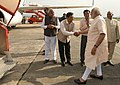 The Prime Minister, Shri Narendra Modi emplanes for Delhi after his Assam & North Eastern states visit where he reviewed the flood situation with the Chief Minister of Assam, Shri Sarbananda Sonowal,.jpg
