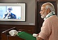 "The Prime Minister, Shri Narendra Modi interacting with a cross-section of people from across the country, via video conference, on the occasion of the ""Swachhata Hi Sewa"" Abhiyan, in New Delhi on September 15, 2018 (2).JPG"