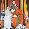 The Prime Minister, Shri Narendra Modi with the Prime Minister of Bhutan, Mr. Lyonchhen Tshering Tobgay, at a bilateral meeting, in Thimphu, Bhutan on June 15, 2014.jpg
