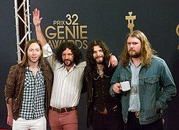 The Sheepdogs at the 2012 Genie Awards.jpg