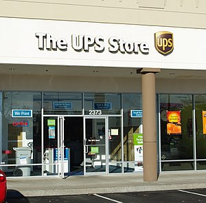 United Parcel Service - Mail Boxes Etc., Inc. was re-branded as The UPS Store in 2001.