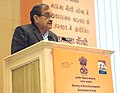 The Union Minister for Rural Development, Panchayati Raj, Drinking Water and Sanitation, Shri Chaudhary Birender Singh addressing at the MGNREGA SAMMELAN-2016, in New Delhi on February 02, 2016.jpg