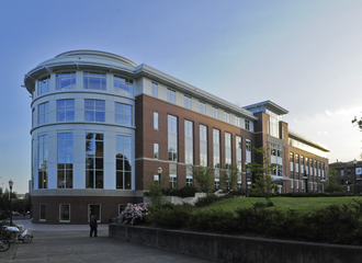 The Valley Library - North side of the library with the rotunda on the eastern end