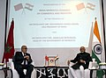 The Vice President, Shri M. Hamid Ansari addressing at the launch of the India Morocco Chamber of Commerce and Industry, in Rabat, Morocco on May 31, 2016.jpg