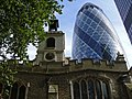 "The church of St Helen's, Bishopsgate, London with ""The Gherkin""..jpg"