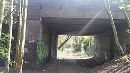 The overbridge where the railway ran underneath to Short Heath near Willenhall Stafford Street station..jpg