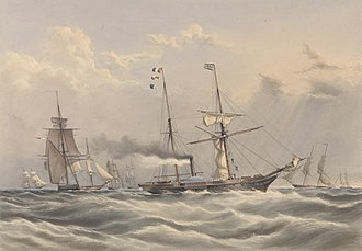 Experimental Squadron (Royal Navy) - The steam frigate 'Firebrand' part of the Experimental Squadron