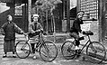 The two American cyclists reach north China in 1892. Few Chinese had ever seen a Westerner, much less a bicycle.jpg