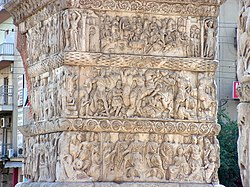 Detail of the Arch of Galerius in Thessaloniki.