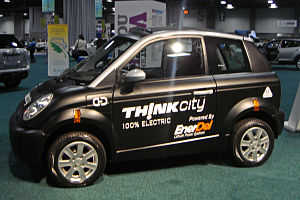 Think City - Th!nk City exhibited at the 2010 Washington Auto Show.
