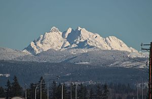 Three Fingers, view from Smokey Point in winter