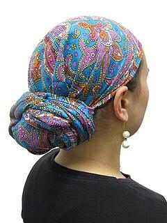 Tichel Jewish headscarf.