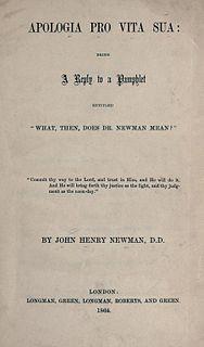 <i>Apologia Pro Vita Sua</i> book by John Henry Newman