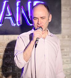 Todd Barry - the cool, friendly, fun, funny, amusing,  actor, comedian,   with Jewish roots in 2019