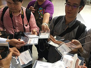 Tokyo Game Show press pass holders from Thailand 20160916.jpg