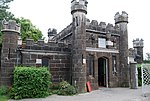 Toll house at Conwy Suspension Bridge