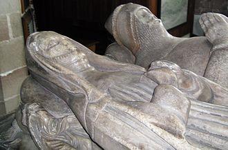 Vernon family - Image: Tong St Bart Isabel de Lingen and Fulke de Pembrugge 02