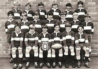 Tony Ridnell - Tony Ridnell-Middle, 1971 Mosman Prep Rugby Team.