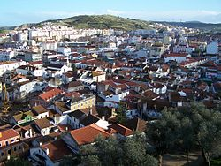 The city of Torres Vedras as seen from the hilltop Castle of Torres Vedras