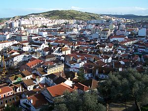 Torres Vedras - The city of Torres Vedras as seen from the hilltop Castle of Torres Vedras