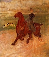 Toulouse-Lautrec - Horsewoman and Dog, circa 1899.jpg