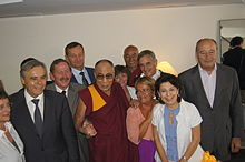 Toulouse 1Rencontre des parlementaires avec sa sainteté le Dalaï Lama à Toulouse le 15 août 2011.jpg