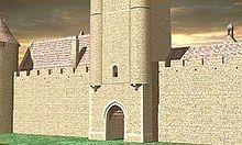 Façade de la Tour Saint-Jean au XVIesiècle.