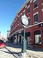 Town clock Main Street at Eastern Avenue downtown Saint Johnsbury VT February 2019.jpg