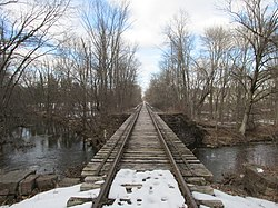 Tracks leading to Suffield Depot