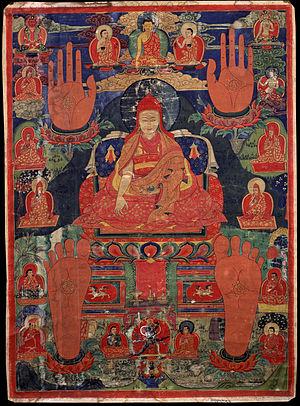 Nenang Pawo - Tsuglag Gyatso, 3rd Pawo Rinpoche (c. 1567-1630), 17th-century painting from the Rubin Museum of Art