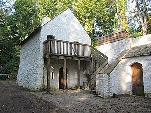 Tudor Trader House - The Tudor trader's house in its present location at St Fagans