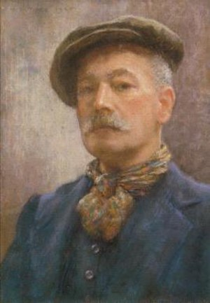 Henry Scott Tuke - Self portrait, 1920