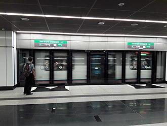 Tun Razak Exchange MRT station - Platform 1 of the TRX station towards Kajang.
