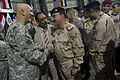 U.S. Army Gen. Raymond T. Odierno, left, greets an Iraqi counterpart at the end of a U.S. Forces-Iraq change of command ceremony in Baghdad, Iraq, Sept 100901-N-TT977-208.jpg
