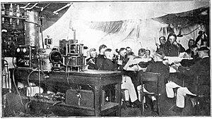 NOF (defunct) - U.S. Marine Band playing at an NOF studio. (1922)