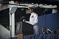 U.S. Navy Vice Adm. Mike Miller, at the lectern, the superintendent of the U.S. Naval Academy, offers opening remarks May 24, 2013, during the graduation and commissioning ceremony for the U.S. Naval Academy 130524-N-WL435-217.jpg