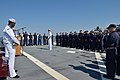 U.S. Sailors assemble on the fantail aboard the guided missile destroyer USS Ross (DDG 71) in the Black Sea during a 9-11 remembrance ceremony Sept 140911-N-IY142-023.jpg